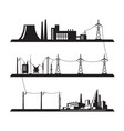 electrical power grid vector image