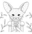 fennec fox vector image