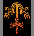 fire sword pattern vector image vector image