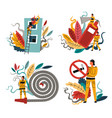 firefighting and fire protection firefighters vector image