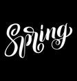 hand drawn lettering spring elegant modern vector image vector image