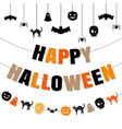 happy halloween set vector image vector image