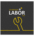 happy labor day with wrench symbol vector image vector image