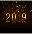 happy new year background magic gold rain golden vector image vector image