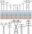 high voltage post vector image