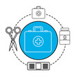 hospital tools and first aid icon vector image