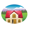 house background vector image vector image