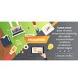 human resources design over career development vector image vector image