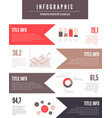 infographic elements set vector image vector image