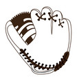 isolated baseball gloves vector image