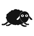 jumping sheep icon simple style vector image
