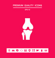 knee joint icon graphic elements for your design vector image vector image