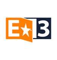letter e 3 logo design template vector image vector image