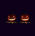 lit pumpkin halloween symbol design vector image