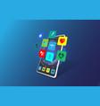mobile health flat design vector image