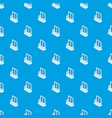 modern balcony pattern seamless blue vector image vector image