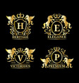 monogram logo templatesluxury letters vector image