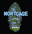 mortgage brokers best service tips text vector image vector image