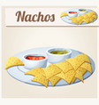 nachos tortilla chips vector image