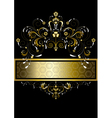 Original gold pattern for banner vector image vector image