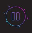 pause button icon design vector image vector image