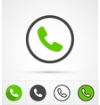 Phone in circle call icon vector image vector image