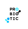 probiotics icon health molecule logo vector image vector image