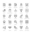 project management line icons 3 vector image vector image