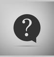 question mark in circle hazard warning symbol vector image