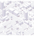 seamless isometric city background white vector image vector image