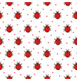 seamless pattern with red ladybug vector image