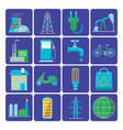 set of energy and ecology flat icons vector image vector image