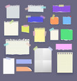 Set of paper poster mockup notes banners vector image vector image