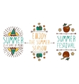 Set of summer hand-sketched elements vector image