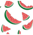 set slices watermelon drawing by vector image vector image