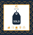 sold tag vector image vector image