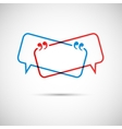 speech bubble on a light background vector image vector image