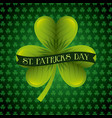 st patricks day card green clover banner vector image