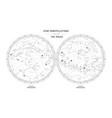 star constellations around poles vector image vector image