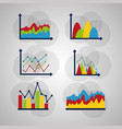 statistics data analysis business vector image