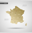 stylized france map vector image