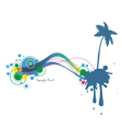 summer background with palm tree vector image vector image