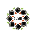 sushi logo vector image vector image