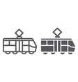 tram line and glyph icon transportation and vector image vector image