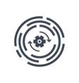 update glyph icon vector image
