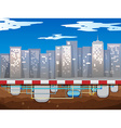 Water pipe underground of the city vector image
