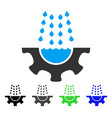 water shower service gear flat icon vector image vector image