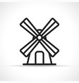 wind mill icon design vector image vector image