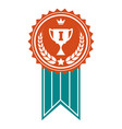 winner colorful award badge vector image vector image