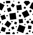 black squares on white background vector image